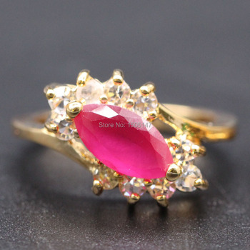 GZJY Fashion Jewelry Vintage Rings For Women Gold Color Mosaic AAA Zircon Crystal Engagement Party Accessories Wholesale