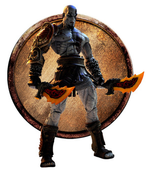 Klasik Oyun Sparta Ultimate NECA Kratos God Of War 3 Hayalet 18 cm Action Figure