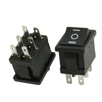 YOCOMYLY 20 adet 6 Pins DPDT ON/OFF/ON Rocker Anahtarı AC 6A/250 V 10A/125 V 21x15mm