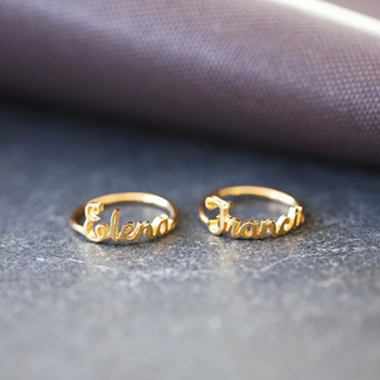 GORGEOUS TALE Items Personalized Name Ring Popular Modern Design Dainty Customized Women Men Ring Jewelry