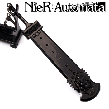 Game NieR:Automata 2B Weapon Keychain YoRHa No. 2 Type B cosplay sword model keyring for women man Charm Gift drop-shipping