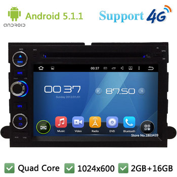 Quad Core 1024*600 Android 5.1.1 Araba DVD Oynatıcı Radyo GPS 4G DAB + Ford Odak Kenar Expedition Mustang Escape Için Freestyle toros